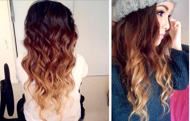 Фото шатуш на длинных волосах