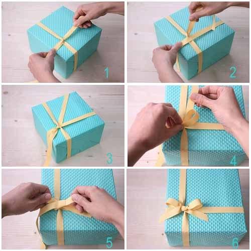 Как сделать бантик из ленты на подарок своими руками