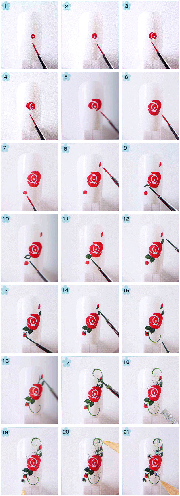 Схемы рисунков на ногтях в домашних условиях