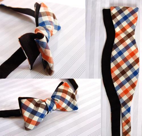 Бабочка-галстук из ткани выкройки