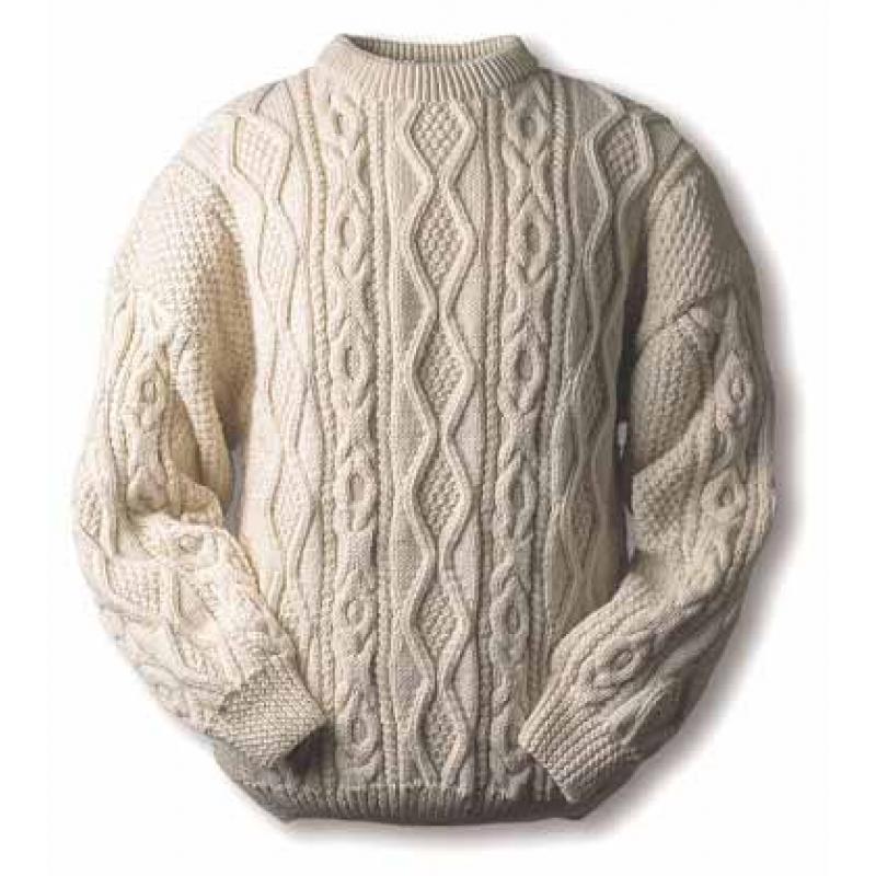 Вязание мужских свитеров с аранами