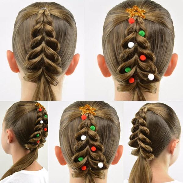 Как сделать новогоднюю причёску ребёнку
