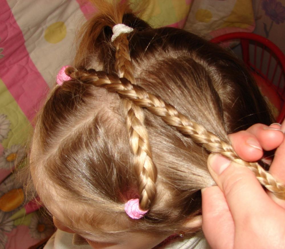 Детские прически для девочек плетение для праздника