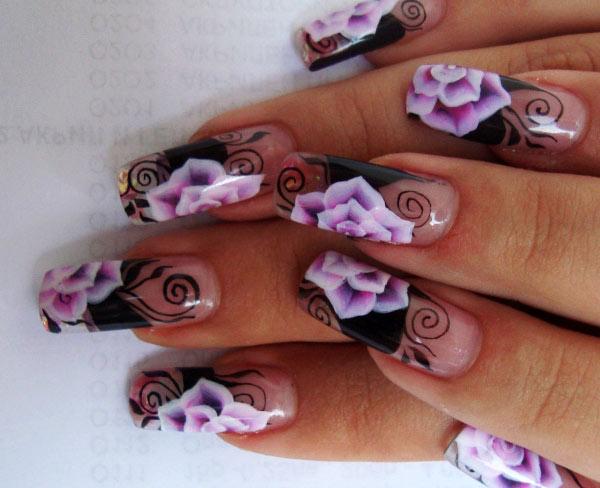 Фото нарощенные ногти с маникюром
