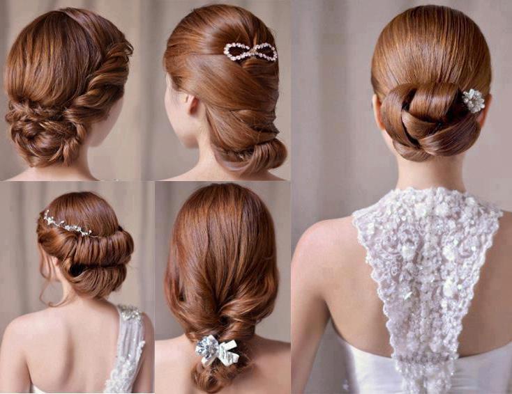 Как сделать свадебную прическу на длинные волосы