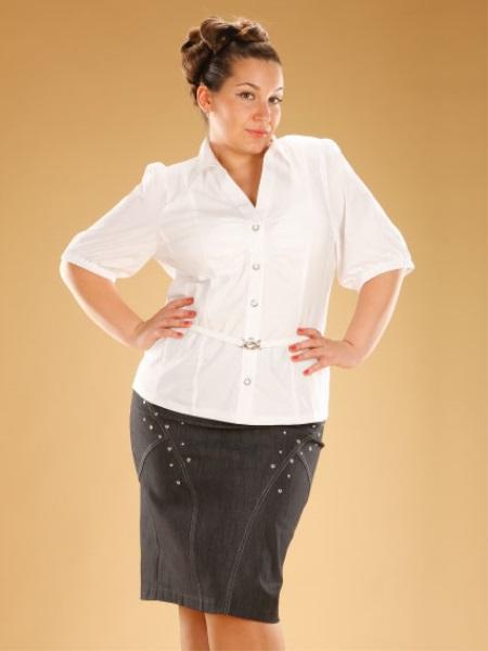 Белые Блузки Больших Размеров Купить В Самаре