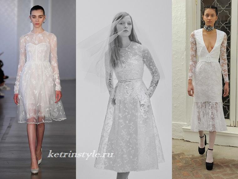 Платье миди с показов