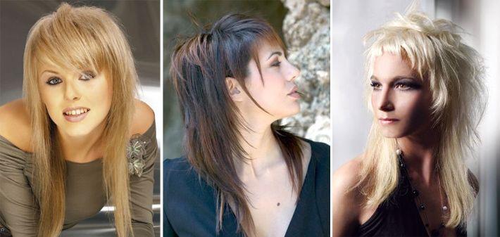 Причёски рваный каскад на средние волосы