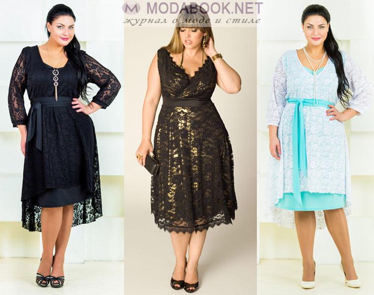 Гипюровые платья для полных женщин фото