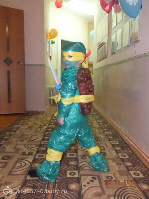 Как сделать костюм для мальчика из бросового материала