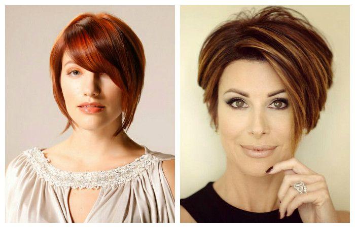 Причёска боб каре фото на короткие волосы с челкой женские