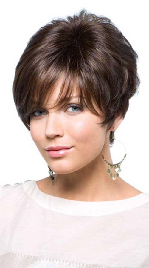Стрижки на короткие волосы 2017 женские на густые волосы круглое лицо