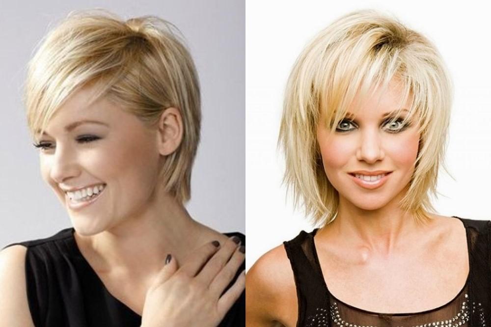 короткая стрижка для тонких редких волос фото наружным основанием черепа