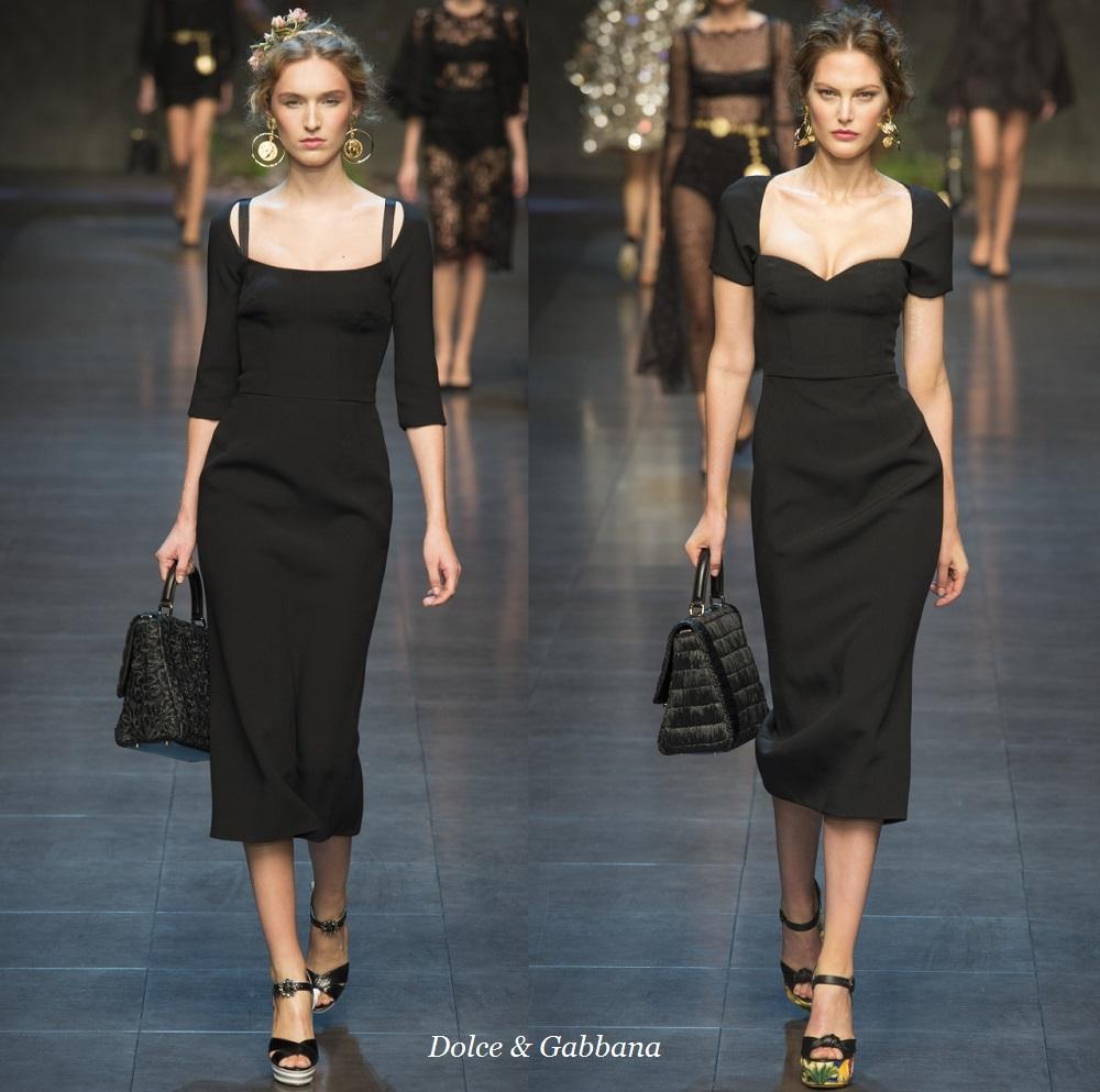 Черные платья дольче габбана 109