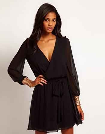 Черные короткие платья