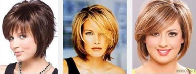 Прически для полных женщин с круглым лицом на длинные волосы