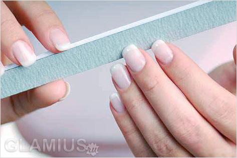 Как сделать ногти матовыми с помощью пилочки