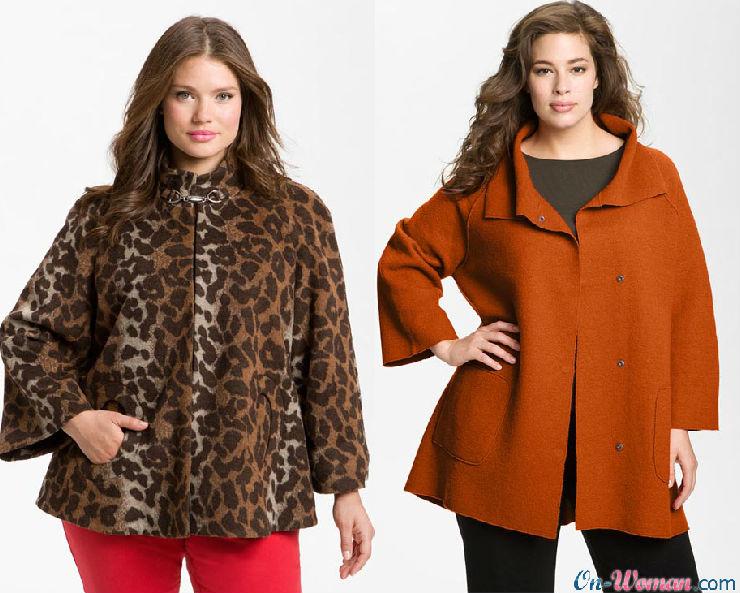 Модные зимние пальто для полных