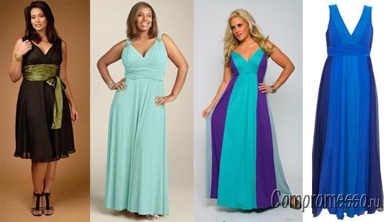 Как сшить вечернее платья для полных