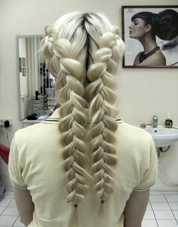 Прическа с косами на средние волосы своими руками