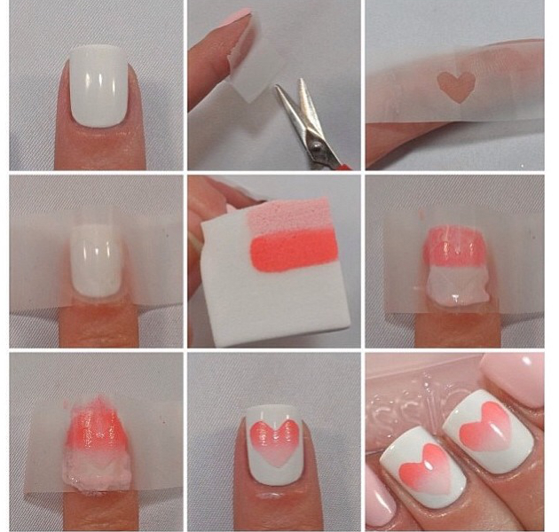 Маникюр на короткие ногти пошагово с фото