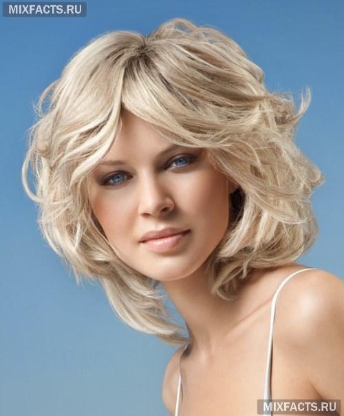 Стрижка для волнистых волос для овального лица