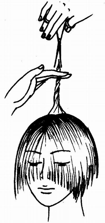 Как подстричь самому волосы на макушке