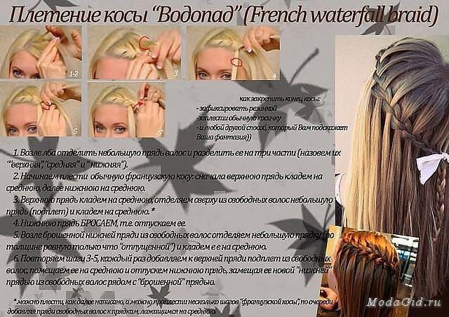 Пошаговые инструкции плетения кос с фото