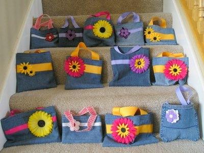 Детские сумки из джинсы