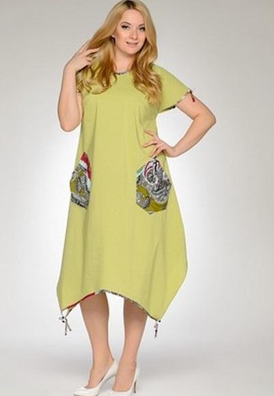 Фото платье на лето для полных