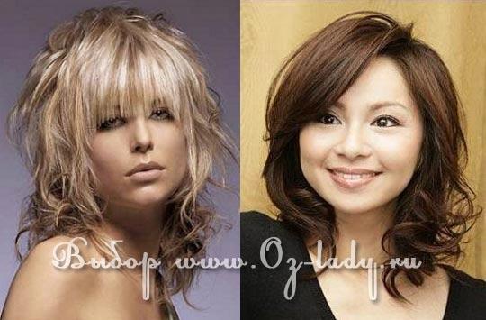 прически для круглого лица вьющиеся волосы