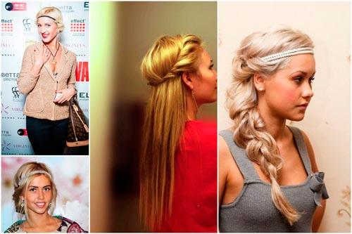 Волосы прически с ободками