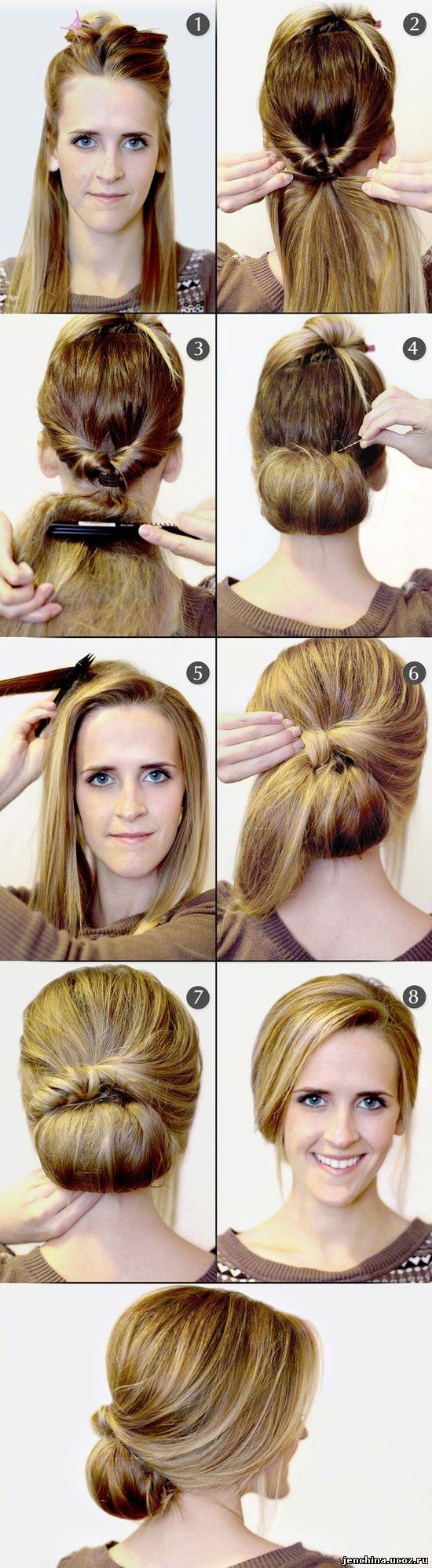 Причёски для средних волос своими руками в домашних условиях фото