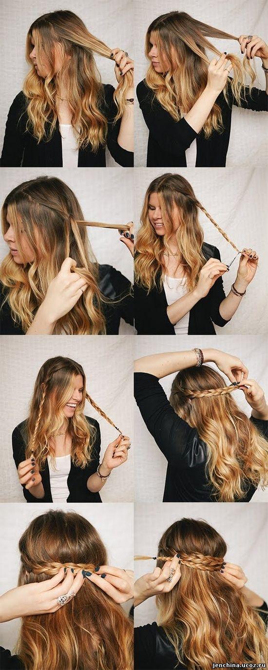 Прически на распущенных волосах в домашних условиях видео