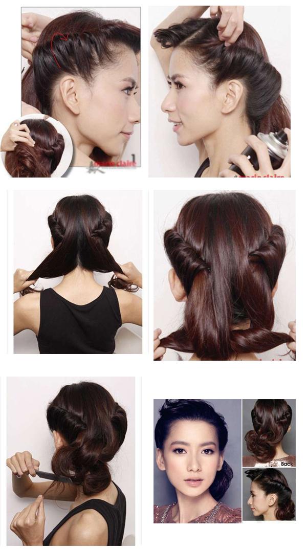 Красивые прически на среднюю длину волос простые