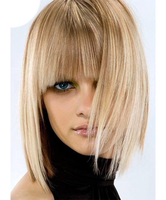 стильные прически на средние волосы фото 2015 с челкой