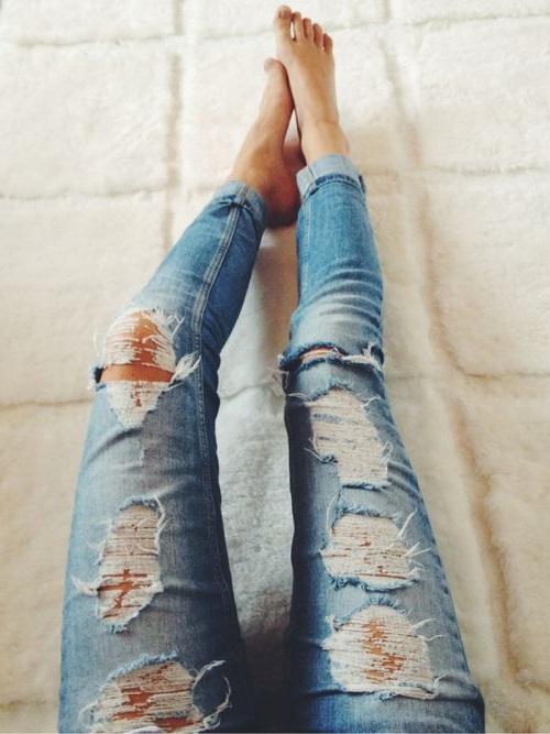 Красивые джинсы сделанные своими руками - Ubolussur.ru