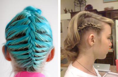 косы прически на короткие волосы фото