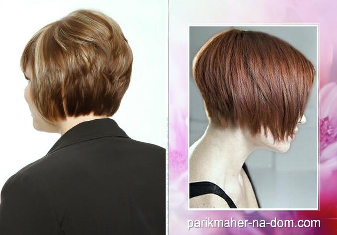 Причёска боб вид сзади