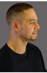 Стрижка мужская без челки на короткие волосы