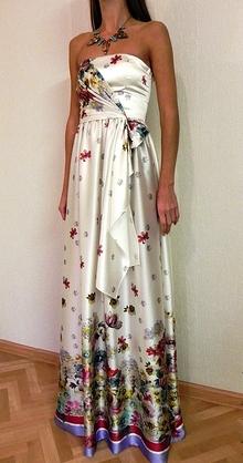 Как пошить платье из шелка