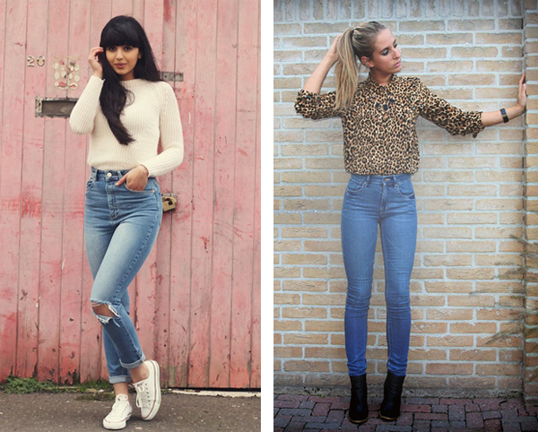 С чем носят джинсы с высокой талией
