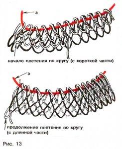 Вязание по кругу сети 29
