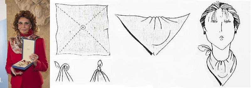 Как красиво завязать платок схема