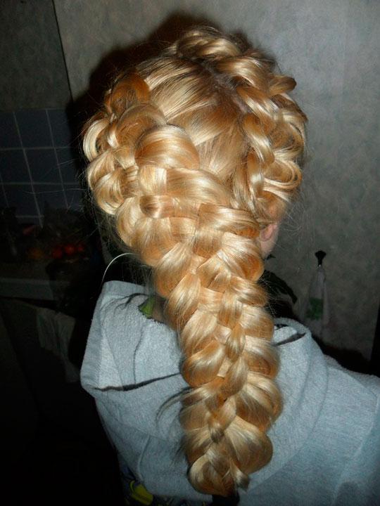 Плетение больших кос