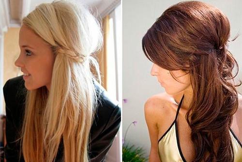 Фото причесок на длинные волосы с начесом