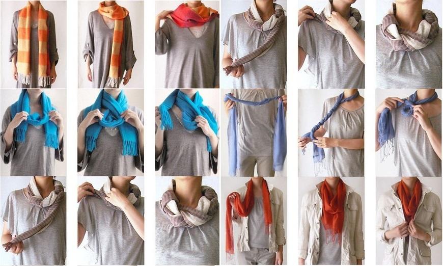 Легкий способ завязать шарф