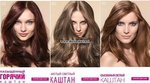 Цвет золотистый каштан на волосах