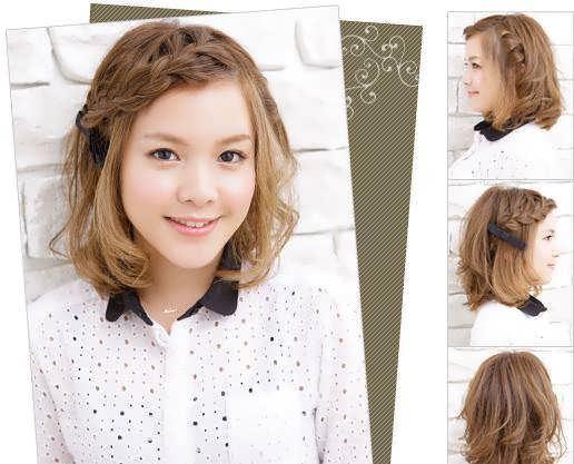 Заплести причёску на короткие волосы