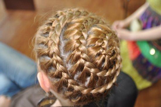 Плетение кос для корзинка